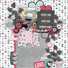valentines {and love} scrapbook ideas | daddy-daughter relationships