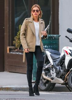 Chic in the city: Hailey Baldwin set the bar high for casual chic as she headed out in New...