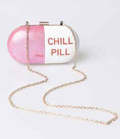 Skinny Dip London Pink & White Chill Pill Cross Body Clutch