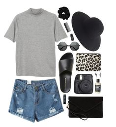 """HAT."" by emily-nevell ❤ liked on Polyvore featuring Monki, Fuji, MANGO, J.Crew, Sephora Collection and Bobbi Brown Cosmetics"