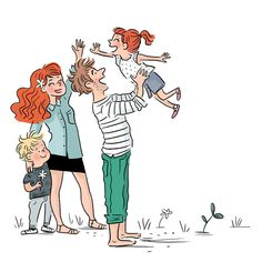 isacile Family Illustration, Graphic Design Illustration, Illustration Art, Character Drawing, Character Concept, Character Design, Cute Drawings Of People, Drawing People, Cute Cartoon Pictures