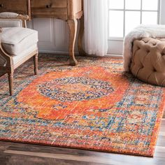 Shop nuLOOM  RZBD43A Orange Persian Vintage Olivia Area Rug at Lowe's Canada. Find our selection of area rugs at the lowest price guaranteed with price match   10% off.