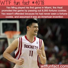 But it is a american invention.......  Yao Ming first game in Miami - WTF fun facts