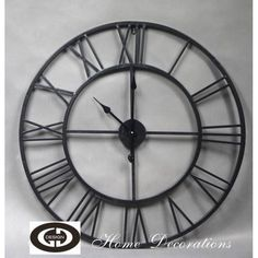 Velké kovové industriální hodiny Clock, Wall, Home Decor, Watch, Decoration Home, Room Decor, Clocks, Walls, Home Interior Design