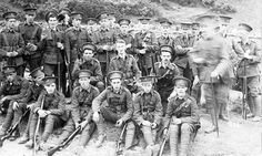Men of The 7th King's Liverpool Regiment, probably taken at a training camp. Photograph Courtesy of Ronnie Cusworth at the Litherland and Ford website.