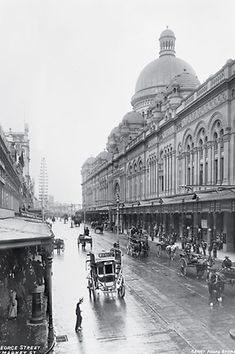Images of Australia: the Tyrrell Collection of photographs of Australia's history Queen Victoria Building, Sydney Old Pictures, Old Photos, Wales Beach, Queen Victoria Market, Victoria Building, Coogee Beach, Sydney City, Melbourne Victoria, History Photos