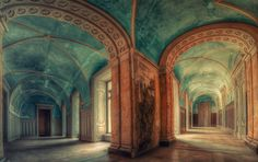 An abandoned palace in Poland.  Unbelievable!