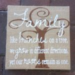 Burlap Family Tree Canvas. By cuttingforbusiness.com.