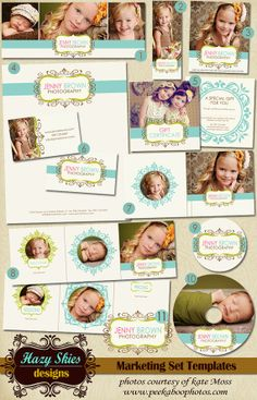 12 Pc. with LOGO Photography Marketing Set von hazyskiesdesigns, $40.00
