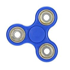 Tri-Spinner Fidget Toy With Premium Hybrid Ceramic Bearing Blue
