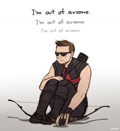 Loki x clint Marvel Memes, Marvel Dc Comics, Marvel Avengers, Funny Avengers, Clintasha, Marvel Fan Art, Clint Barton, Jeremy Renner, Hawkeye