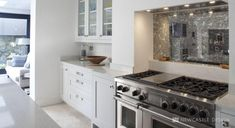 This L Shaped kitchen is functional and simplistic. Featuring a bold kitchen island in gorgeous blue hues, adding to the sophistication of the family room. L Shaped Kitchen, Kitchen Cabinets, Functional Design, Bold Kitchen, Home Decor, Kitchen Collection, New Kitchen, Plain English Kitchen, Kitchen Design