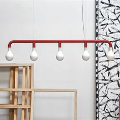 Pom Pom Suspension Lamp by Calligaris Luxury Chandelier, Chandeliers, Flat Shapes, Matte Red, Diffused Light, Globe Lights, Modern Lighting, Entry Lighting, Lighting Ideas