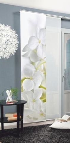 Schiebevorhang Schiebegardine Raumteiler Fotodruck Weisse Orchideen 245 Cm