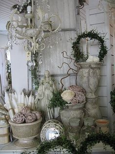 Mmmm ... all of this display! Love concrete, we just can't usually manage it at home (really hate to hurt hubby's back!)
