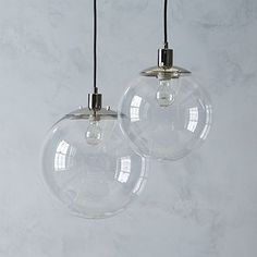 "Globe Pendant - Clear #westelm just ordered 3 14"" for my island! I need to purchase Edison bulbs and then it'll be perfect."