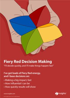 Get that decision made - and fast - with your Fiery Red skills. Insights Discovery