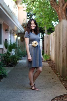 One gray dress, Two ways at Clothed Much Modest Fashion Blog