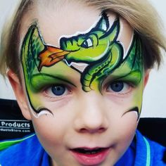 Dragon Face Painting, Face Painting For Boys, Face Painting Designs, Body Painting, Henna Paint, Barbie, Boy Face, Unicorn Face, Face Paintings