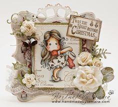 The Day Before Christmas Stocking Tilda & Christmas background