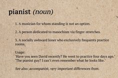 Musician dictionary definitions. Picture: iStock