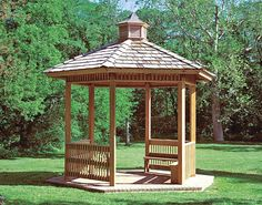 Gazebo Roofs | Wood Single Roof Orchard (Hexagon) Pavilions | Pavilions by Shape ...