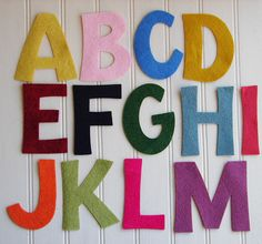 Wool Felt Alphabet Set  4 Tall  Great for by AMarketCollection, $15.60