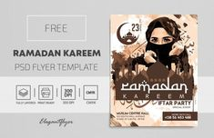 Download Ramadan Kareem Invite PSD Flyer Template for Free. This Flyer is editable and suitabile for your family relatives and friends.