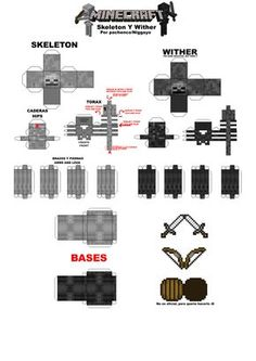 minecraft papercraft | Minecraft Papercrafts Skeletons Y Wither by ~Niggayo on deviantART