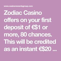 Zodiac Casino offers on your first deposit of €$1 or more, 80 chances. This will be credited as an instant €$20 bonus to the casino account, which may be used to place 80 bets of €0.25 on the famous progressive jackpot Mega Moolah. Mega Moolah, Become A Millionaire, Accounting, Zodiac, How To Become, Horoscope