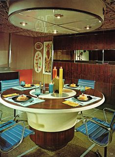 What a lovely retro dining room equipped with decors that brings nostalgia in every dining experience.