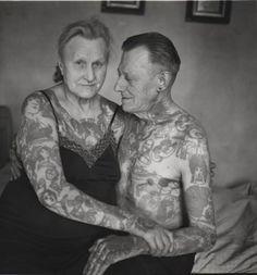 #tattoos #vintage #couple
