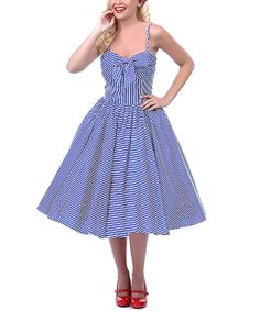 21fe2bcf67b1 Navy  amp  White Seeing Stripes Dress - Women  amp  Plus Pin Up Dresses