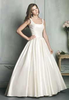 Scoop-neck ball gown from Allure Bridals