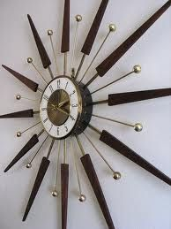 Starburst Wall Clock My Mother Bought One Just Like This For Grandma In The Late It Still Works