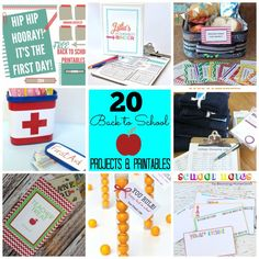 Great Ideas -- 20 DIY Back To School Projects & Printables!