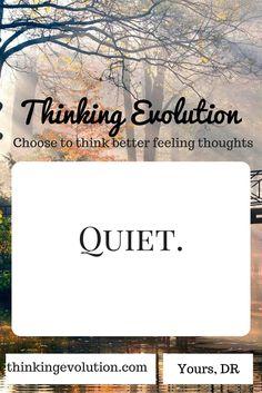 Quiet- Thinking Evolution