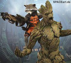 """http://spaceart.de/produkte/gog001.php ... Von diesem tollen """"Rocket und Groot"""" Figuren-Set des Herstellers Hot Toys zum Film """"Guardians of the Galaxy"""" haben wir nun nur noch ganz wenige Exemplare. Wer sich noch eines sichern möchte, sollte schnell zuschlagen."""