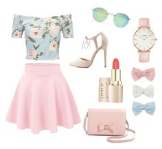 """""""Romantic spring!"""" by ladysissi on Polyvore featuring mode, Miss Selfridge, Madewell, Decree, CLUSE, Ted Baker et Charlotte Russe"""