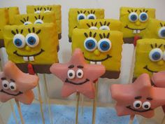 Sponge Bob cake pops that I made...
