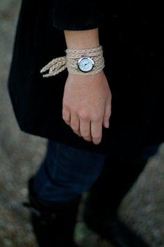 crocheted watch