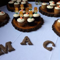 Cupcake table for baby shower