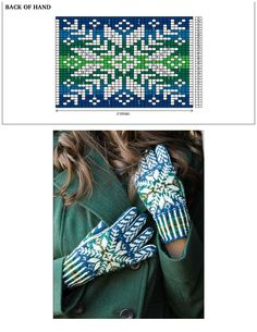 """Photo from album """"Nordic Knitting Traditions Knit on Yandex. Beginner Knitting Patterns, Knitting Machine Patterns, Fair Isle Knitting Patterns, Knitting Charts, Knitting Stitches, Knitting Projects, Mittens Pattern, Knit Mittens, Knitted Gloves"""