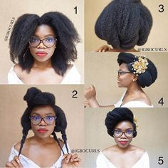 Bildergebnis für natural hair updo
