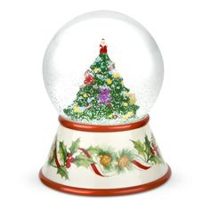 Spode Christmas Tree 2010 Musical Snow Globe -- Home decor details can be found by clicking on the image.