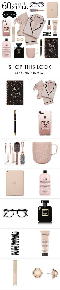 """""""60 Second Style - Sweet Dreams!"""" by lgb321 ❤ liked on Polyvore featuring Parker, Casetify, iittala, Black Apple, philosophy, Chanel, By Terry, Cabinet, OPI and sweetdreams"""
