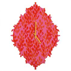 Camilla Foss Bright Happiness II Baroque Clock | DENY Designs Home Accessories