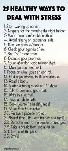 25 Healthy Ways to Deal with Stress - Style of Change
