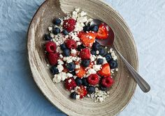 Berry Salad with Goat Cheese and Black Pepper