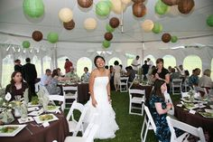 What's prettier?  Re: Lanterns in our tent. - Weddingbee